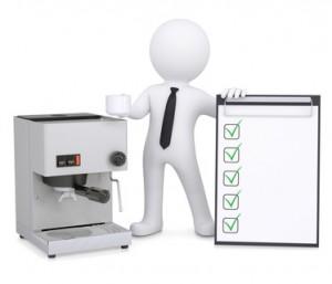 3D-Grafik für Kaffeemaschinen-Service
