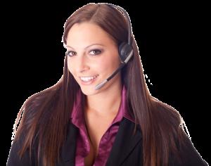 Kontakt - Frau mit Headset