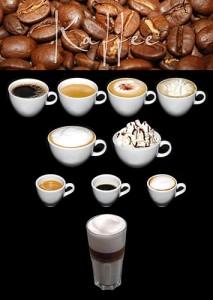 Auswahl an Kaffeespezialitäten